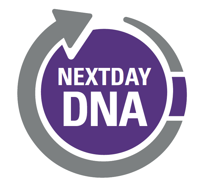 Next day DNA testing logo